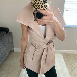 Bebe Dusty Pink Long Vest